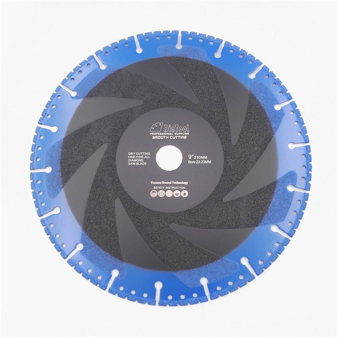 DIATOOL 1pc 230mm Vacuum Brazed Diamond Blade For All Purpose For Stone Iron Steel 9 Demolition Blade diatool 2pcs 230mm vacuum brazed diamond demolition blade body coated better performance cutting disc for multi purpose