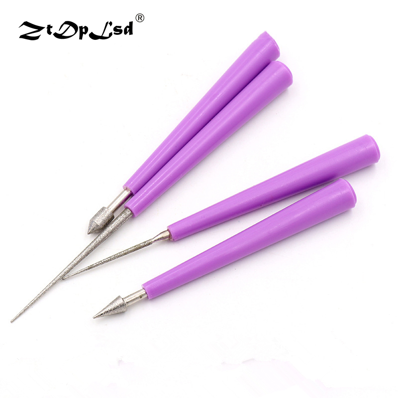 ZtDpLsd 4Pcs/Lot Diamond File Needle Set Wood Rasp Lapidary Ceramic Tool Sharpening Gringding Carving Repair Cutting Files Kit