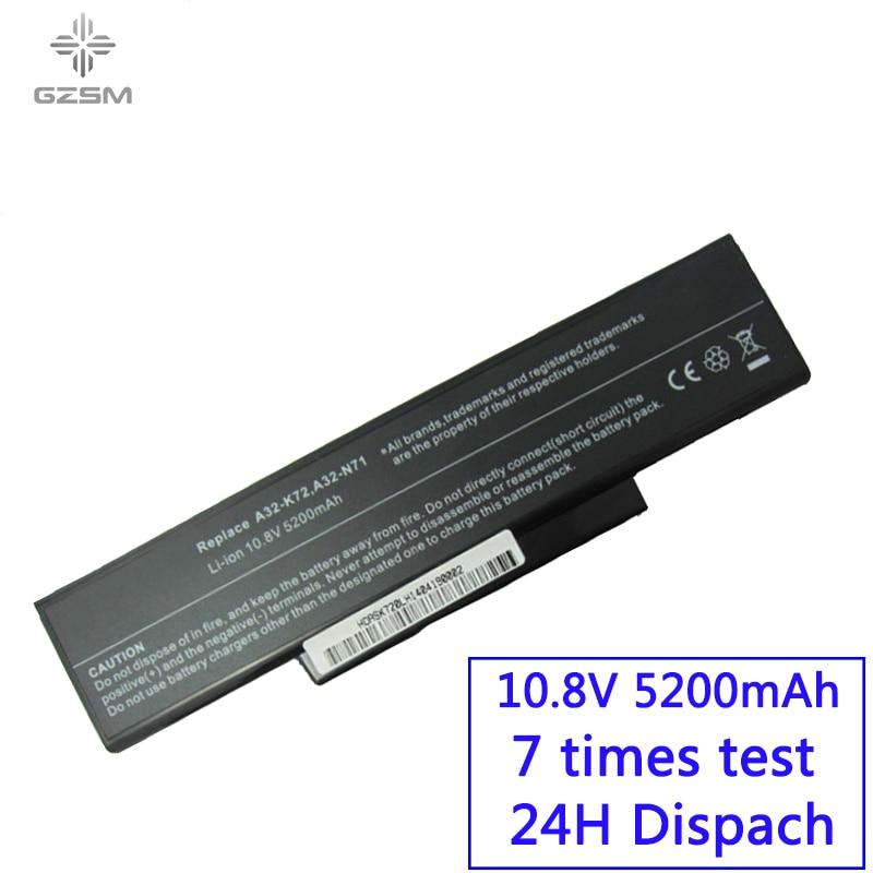 GZSM laptop battery A32 K72 for Asus A32 N71 K72DR  battery for laptop  K72D K72JR  K73  batteries K73SV K73S K73E N73SV battery|laptop battery|battery for asus|laptop battery for asus - title=