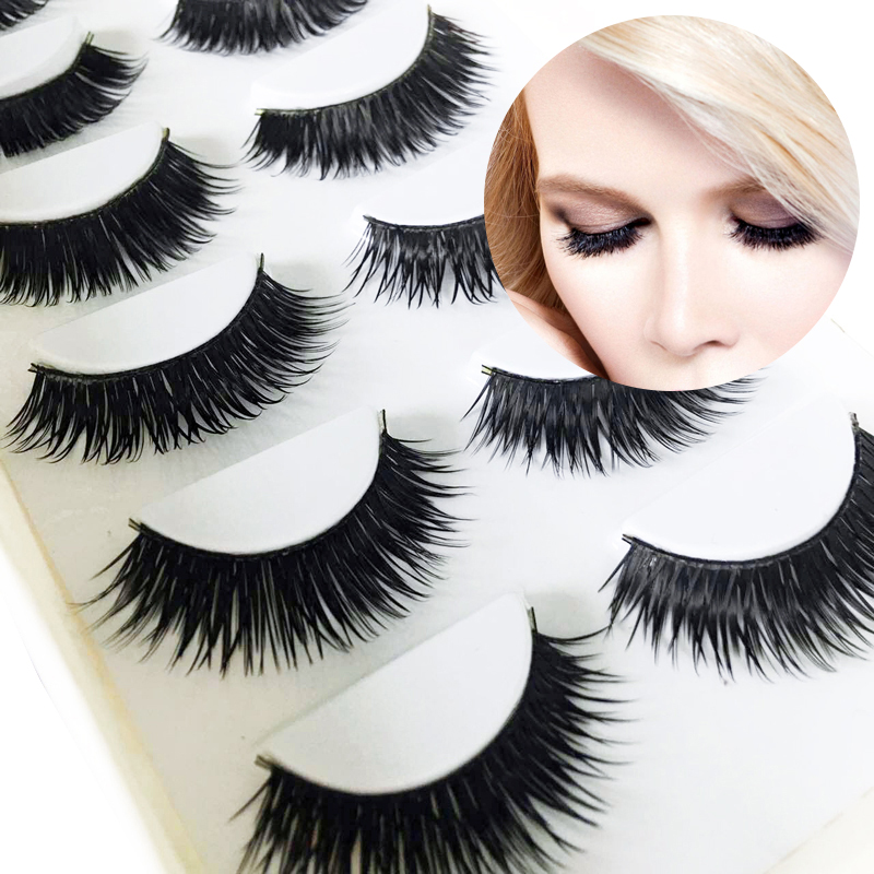 <font><b>30</b></font> <font><b>Pairs</b></font> Handmade False <font><b>Eyelashes</b></font> Messy Cotton Stalk Natural Long Mink <font><b>Eyelash</b></font> For Female Fake Eye Lashes Extensions Tool Beauty image