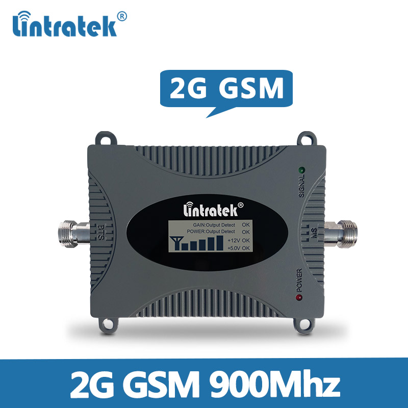 Lintratek Gain 65dB 900 GSM Mobile Signal Booster 2G GSM Signal Amplifier GSM 900MHZ Cellphone Signal Repeater With Display @5.8