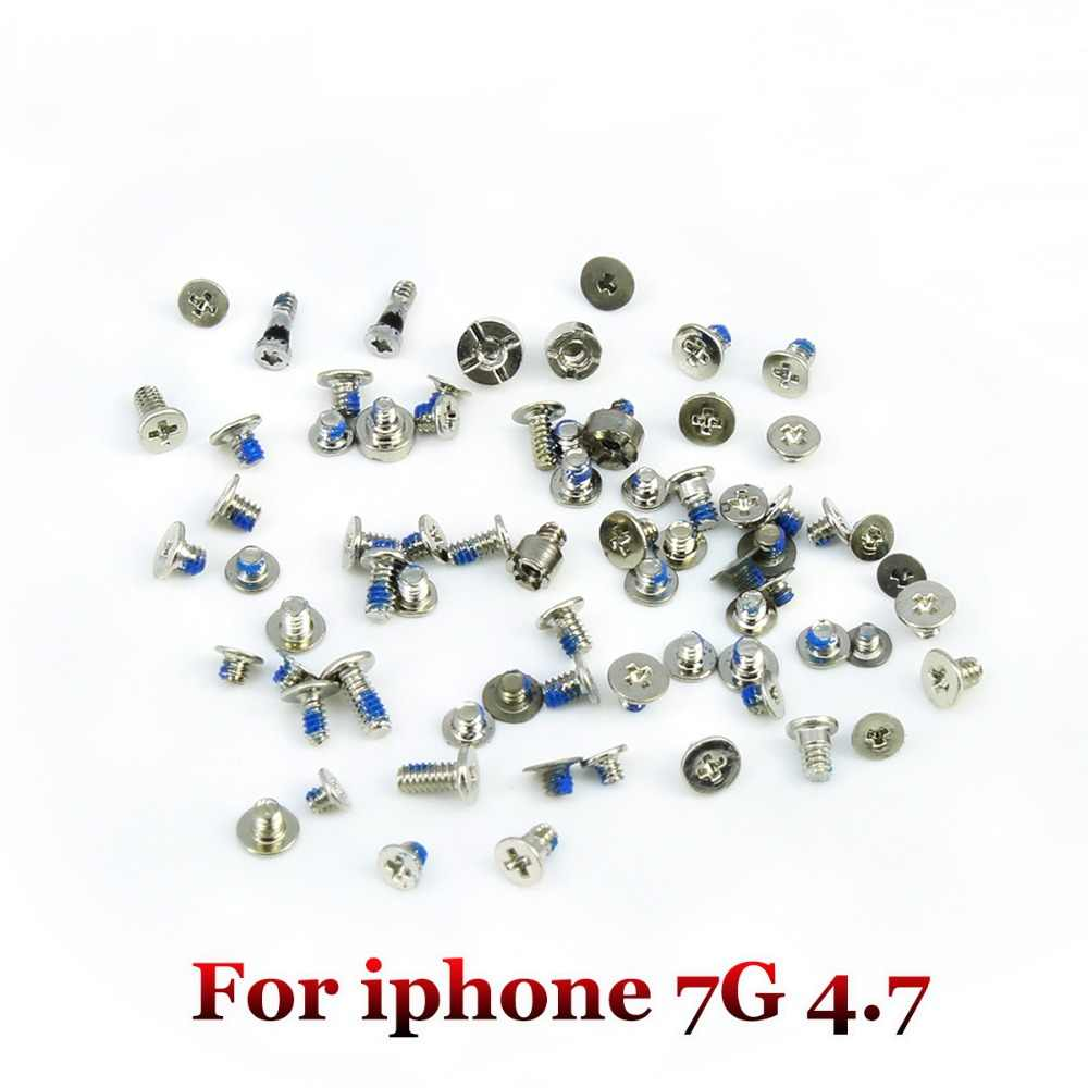 Yuxi Kit Lengkap Full Set Sekrup Pengganti untuk iPhone 7 7 Plus 8 8 Plus X 5 5 S 5C 6 6 Plus 6 S 6 Splus Ponsel Aksesoris