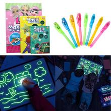 1PC A4 A5 LED Luminous tablica do pisania Graffiti Doodle tablet graficzny magia remis z lekko-zabawa fluorescencyjny długopis zabawki edukacyjne tanie tanio Carefe Z tworzywa sztucznego VTL0002 Unisex Rysunek zabawki zestaw 3 lat Farby nauka notebook kolorowania notebook
