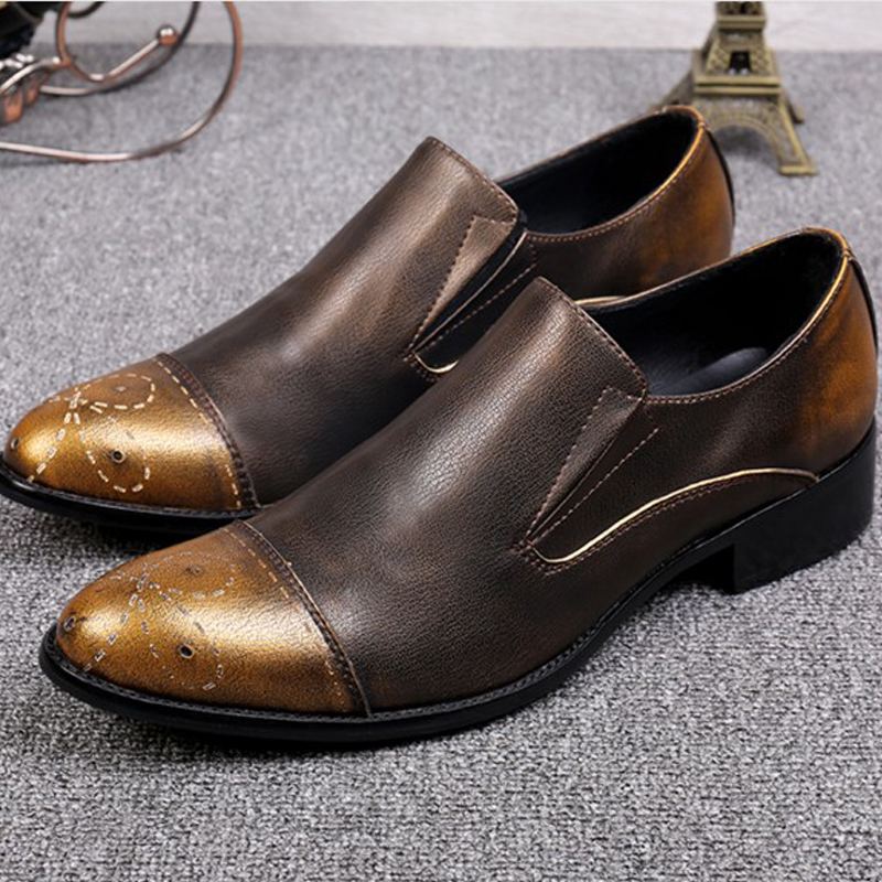 Fashion Retro Men Shoes Sapato Masculino 2017 High Quality Dress Shoes Oxfords Slip-on Flats Party Shoes Vintage Chaussure Homme men party shoes oxfords 2015 hot men s genuine leather shoes brand sapato masculino couro social round toe palladium shoes 38 46
