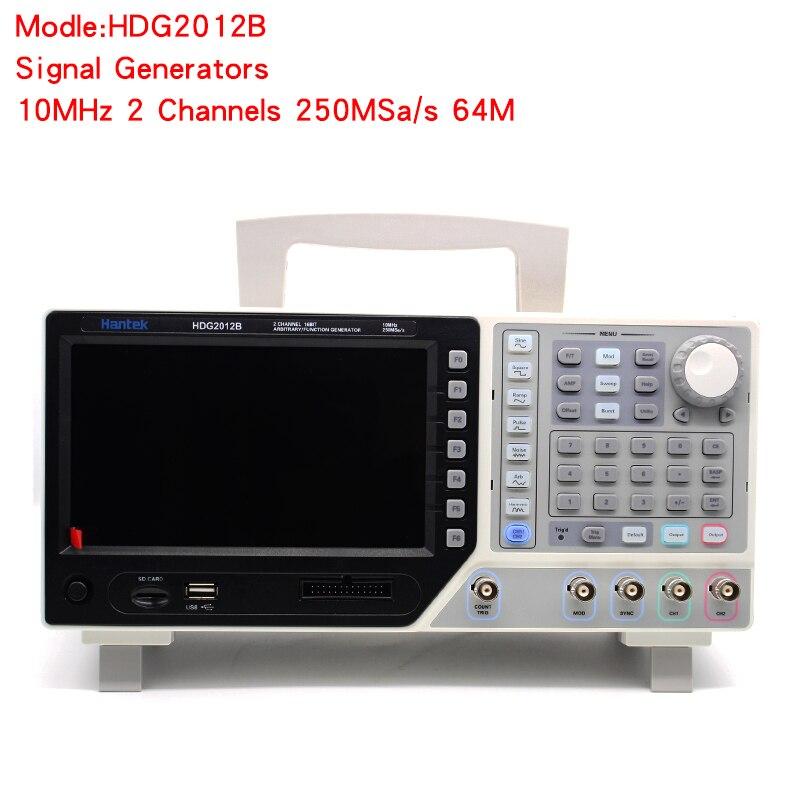 Haute précision Hantek HDG2012B 10 MHz 2 canaux 250MSa/s 64 M générateur de Signal numérique DMM fonction Signal forme d'onde arbitraire