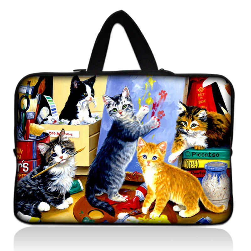 Notebook Bag Laptop Draagtas Sleeve Cover Pouch Voor 7 ''10'' 12 ''13'' 14 ''15'' 17 ''HP Dell Macbook Acer Toshiba kat