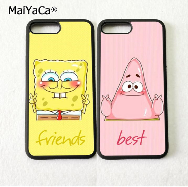 low priced cb162 a035b US $4.38 |spongebob patrick BFF best friends silicone soft phone cases for  iPhone 5s se 6 6s plus 7 7plus 8 8plus X XR XS MAX cover case-in ...