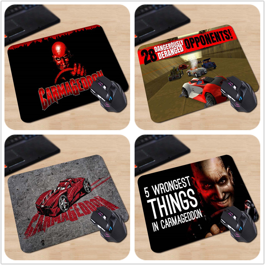 carmageddon Rubber Soft Gaming Mouse Games Black Mouse pad