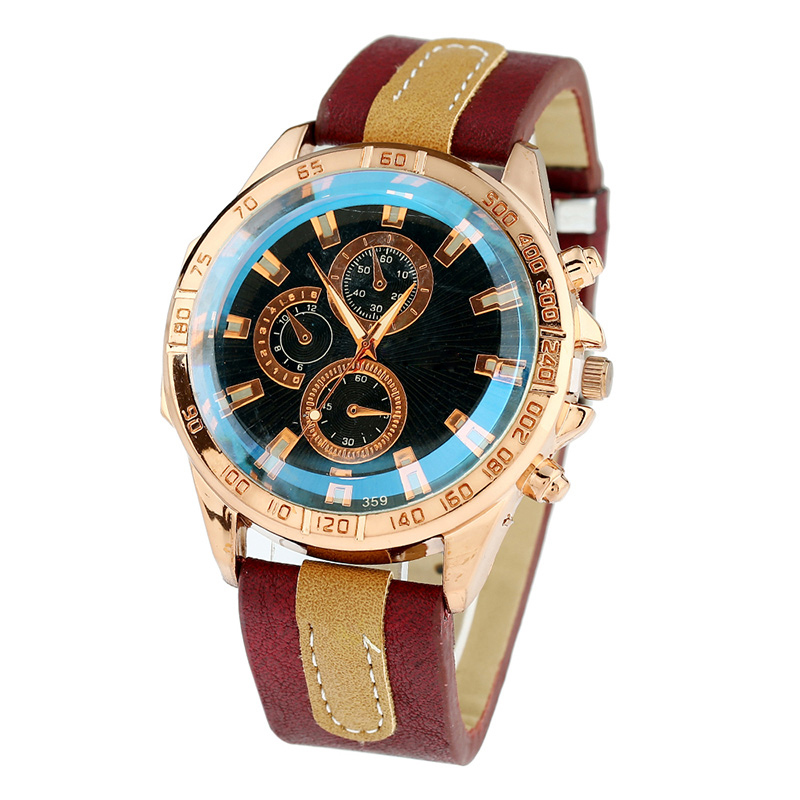 compare prices on mens platinum watches online shopping buy low gnova platinum pu leather watch men fashion wristwatch reloj man retro chronograph rim sub dials classic