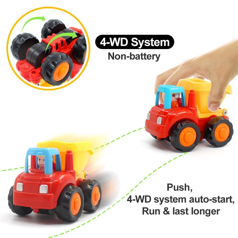 4-WD System Toy Trucks for Toddlers
