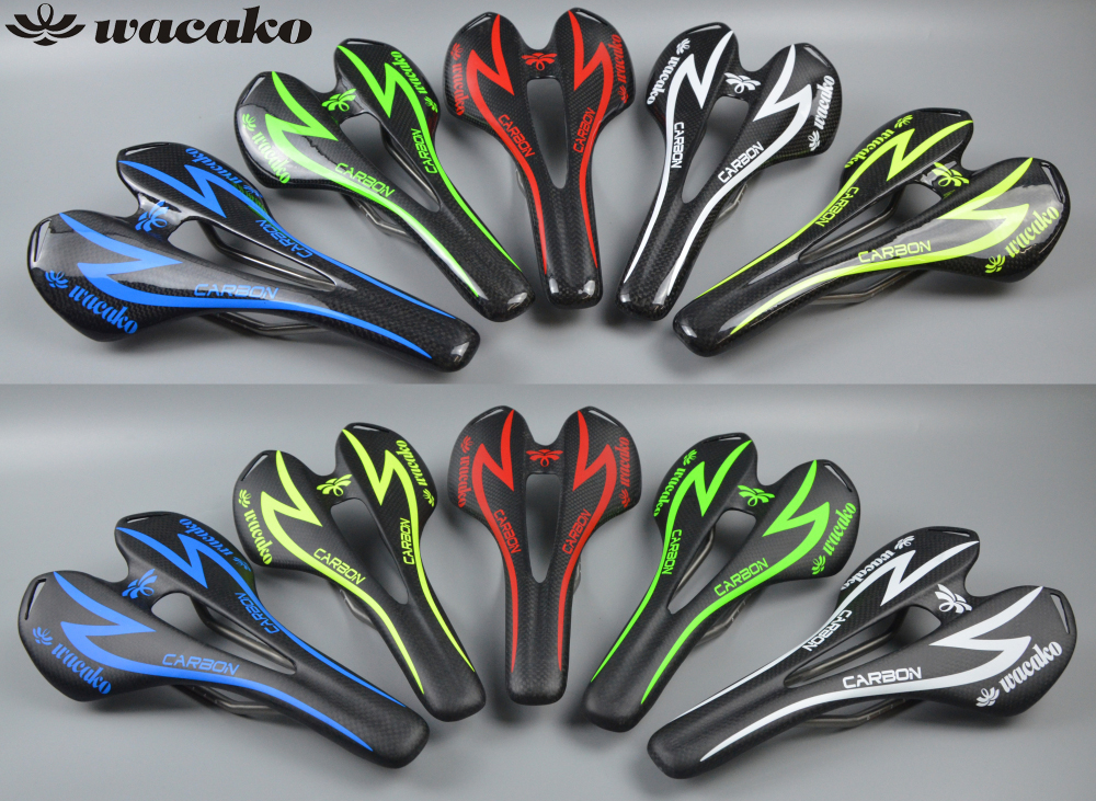 wacako carbon Road Bicycle Saddle titanium bow Road bieycle MTB Mountain Cycling Bike Seat Saddle Cushion Bike Accessories 172g newest raceface next sl road bike ud full carbon fibre saddle spider web mountain bicycle front seat mat mtb parts free shipping