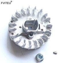 Fvieu Volante magnético compatible con motor CY Fuelie de 23 30.5cc, compatible con 1/5 HPI BAJA 5B 5T SC KM Rovan Losi 5ive T