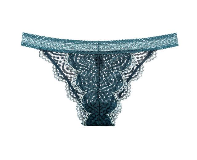 Women's lace unpadded Beauty Back Green Bralette Underwear Set 2017 Fashion Thin Transparent Lingeries Plunge Bra Set 70-85ABC