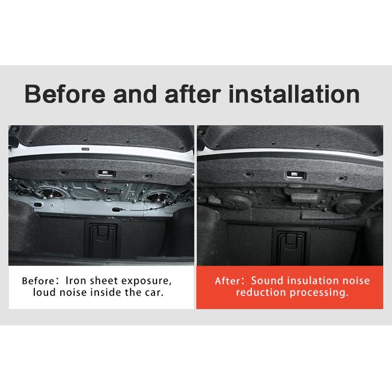 Pour Honda Accord 10th 2018 2019 coffre de voiture insonorisé coton tapis autocollant Protection 1 pièces/ensemble - 2