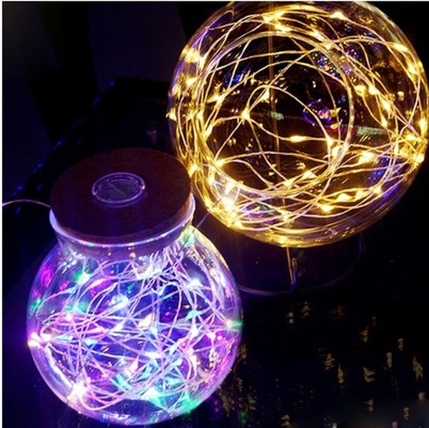 HENYNET 2m/3m/4m/5m/10m LED Christmas Wedding Party Festival Copper Wire String Fairy Lights