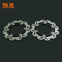 Motorcycle Black Front Floating Brake Disc Rotor For T MAX 500 T MAX500 2008 2011 09 10 Dirt Bike Motocross