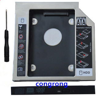 2nd SSD HDD SATA Hard Drive Caddy bracket For <font><b>Lenovo</b></font> G40-30 G40-<font><b>70</b></font> G40-80 G50-30 G50-45 G50-<font><b>70</b></font> G50-80 <font><b>G70</b></font>-80 E40-<font><b>70</b></font> Z40-75 image