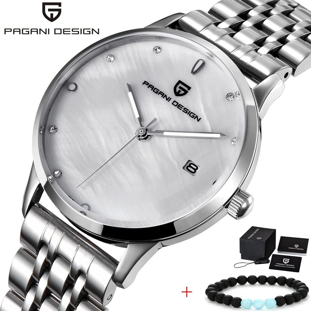 PAGANI DESIGN Women Dress Watches Luxury Brand Ladies Quartz Watch Stainless Steel Casual Silver Bracelet Wristwatch reloj mujer famous brand jw bracelet watch clock women luxury silver stainless steel casual analog wristwatches ladies dress quartz watch