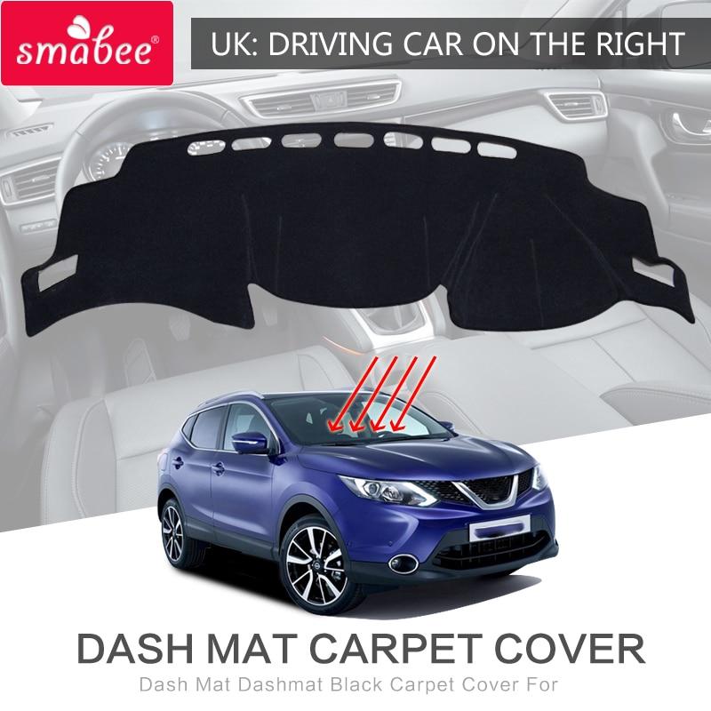 smabee For Qashqai NISSAN rogu 2016 Dash Mat Dashmat Black Carpet Cover Prevent bask in Sunscreen insulation