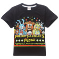 Five Nights at Freddy's pizza shirt FNAF Children T shirts for kids 100%Cotton Boys Clothes five nights at freddys t shirt DC590