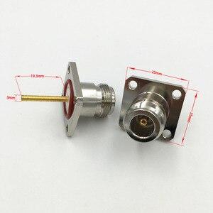 Image 3 - 10 шт. латунный N Гнездовой разъем с 4 отверстиями фланец длинное паяльное Крепление Шасси RF адаптер Разъем 25 мм * 25 мм