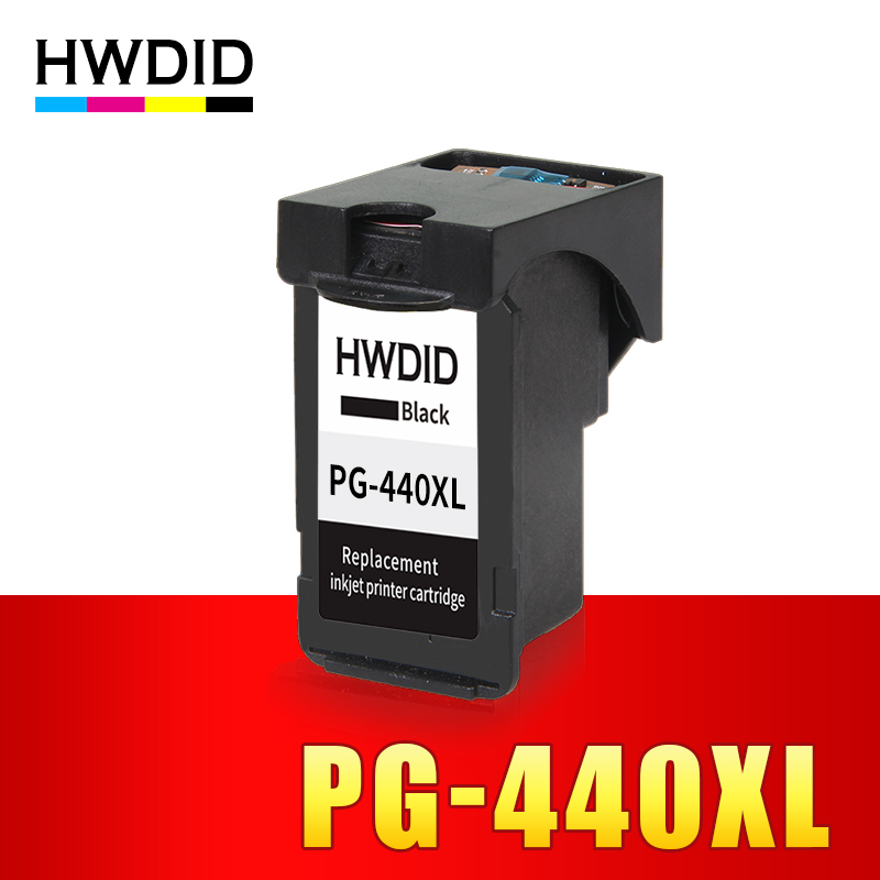 HWDID Black PG440 XL PG 440 PG-440 Refilled Ink Cartridge for Canon PIXMA MG2180 MG2240 MG3180 MG4180 MG4280 MX378 MX438 MX534