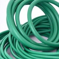 30pcs 1.8mm diameter green fluoro rubber O-ring repair box skeleton oil seal PTFE gasket  18mm-26.5mm outer diameter