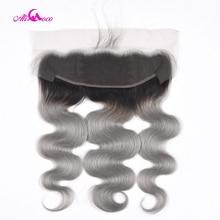 Cheveux brésiliens naturels Remy Lace Frontal Closure Ali Coco
