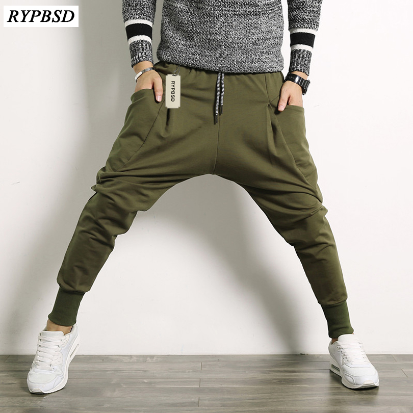 2019 Autumn Winter New Pants Men Fashion Hip Hop Harem Pant Boys Plus Size Drop Crotch Casual Mens Joggers Japan Trousers Male