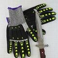 Анти-среза перчатки, трикотажные перчатки с кожаной ладонью, reinfored устойчива к порезам перчатки.