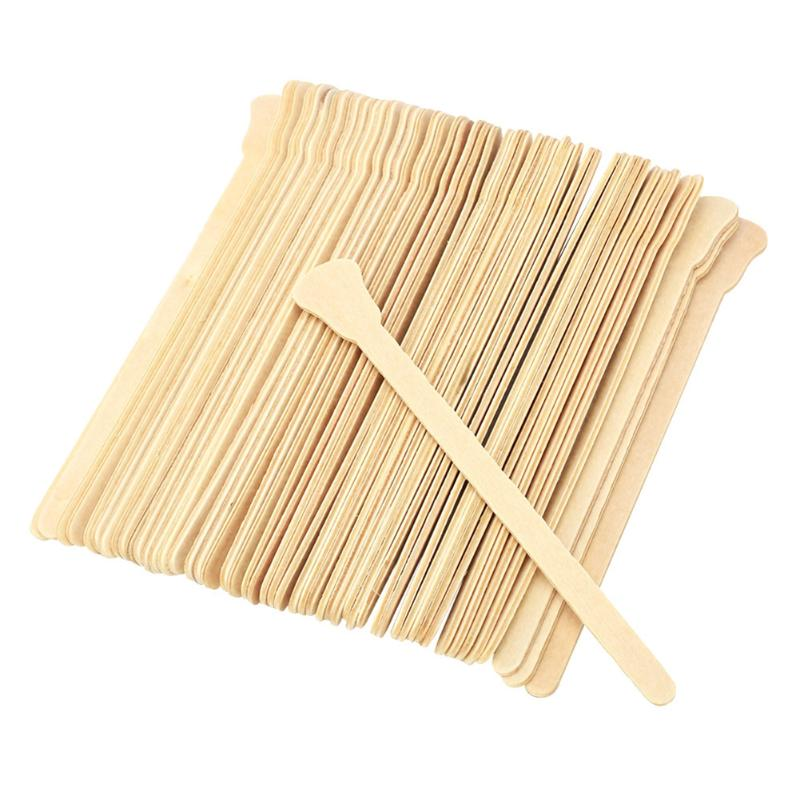 50PCS Wooden Wax Sticks Spatula For Depilation Disposable Bamboo Sticks Body Skin Hair Removal Cream Stick Beauty Tools