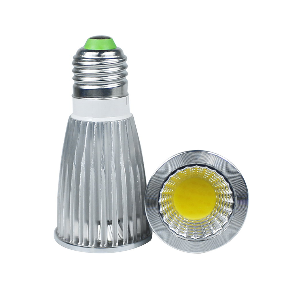 1Pcs High Power 10W COB Led spotlight bulb lamp Warm White/White AC110-240V E27 LED COB Spot down light bulb for indoor lighting 12w par38 led e27 spot light bulbs lamp 110v 220v 12 1w high power watts lighting warm white cold white ce rosh 12pcs lot dhl
