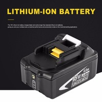 Black Portable 18V 5AH 5000mAh Li Ion Battery Replacement Power Electronic Tool Easy to Handle for MAKITA BL1850 B