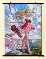 Home Decor Japanese Anime Shigatsu wa Kimi no Uso Wall Poster Scroll