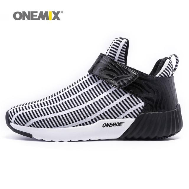 Новые Onemix теплые увеличивающие рост зимняя обувь для мужчин и женщин спортивные туфли Открытый мужские кроссовки европейский размер 36-46