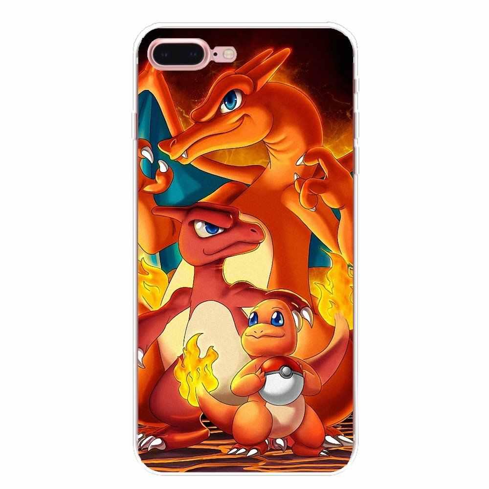 Okładka kreskówki pokemony Pika Go PokeBall do Samsung Galaxy S2 S3 S4 S5 MINI S6 S7 krawędzi S8 S9 Plus uwaga 2 3 4 5 8 Coque Fundas