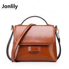 Jonlily 2017 New Small Leather Women Crossbody Bags For Women Messenger Bags Vintage Genuine Leather Female Handbags-SLI-314