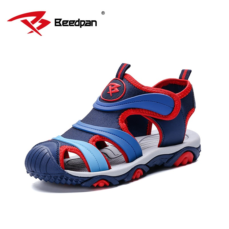 BEEDPAN 2018 new Kids Sandals Summer Children Beach Shoes Sandals Casual Kids Boy Shoes For Summer Leather Toddler Boy Sandals 2018 brand kids sandals for boys sandals fashion summer children shoes baby boy closed toe beach toddler sandals for kids shoes