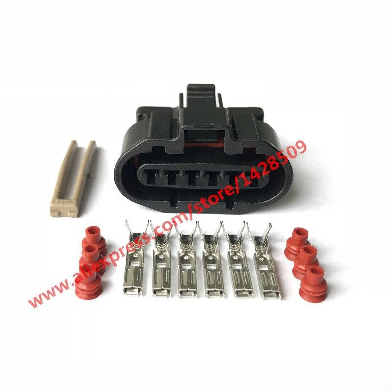20 Sets MG640547-5 6 Pin Female MAF Sensor And Ignition Distributor For Mitsubishi Automotive Connector Car Plug