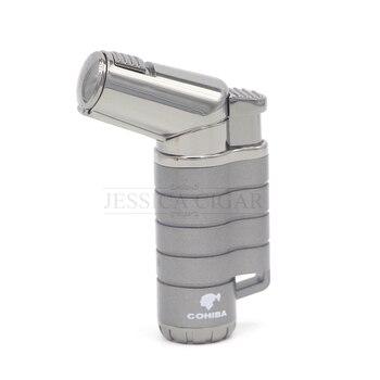 COHIBA Gun Pattern Jet 3 Flame Torch Cigar Cigarette Lighter Refillable Gas Lighters Smoking Fire gadget