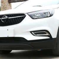 Il trasporto Libero di Alta Qualità ABS Cromato Anteriore fendinebbia copertura Trim Della lampada della Nebbia ombra Trim Per Opel Mokka/Buick Encore
