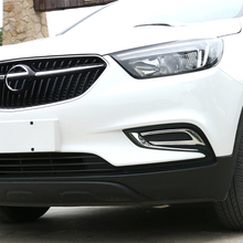 Free Shipping High Quality ABS Chrome Front Fog lamps cover Trim Fog lamp shade Trim For Opel Mokka/Buick Encore недорого