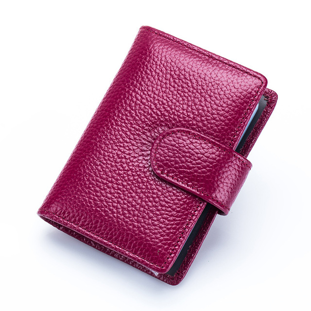 Newest! Unisex Fashion Pure Cow Leather ID Credit Card Holder Wallet 18pcs Card pages Multifunction Organizer bag High Quality