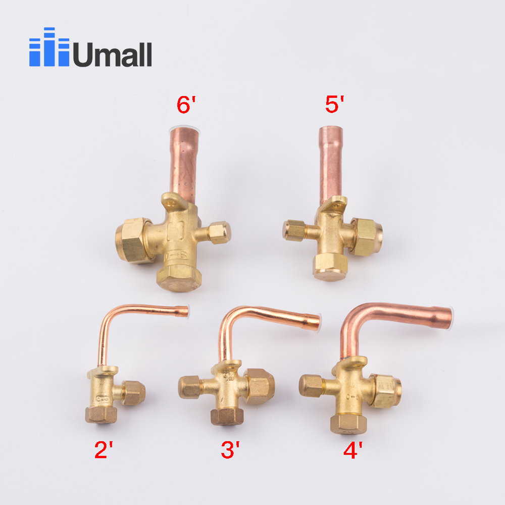 3 way 4 way service valve for  Air conditioning fitting reverse high and low pressure air conditioner release valve3 way 4 way service valve for  Air conditioning fitting reverse high and low pressure air conditioner release valve