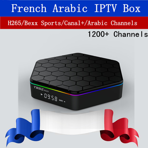 French IPTV Box T95Z Plus Android 7.1 TV Box with 1000+ NEOTV IPTV Europe French Arabic Tunisia Morocco PayTV Smart Set top Box