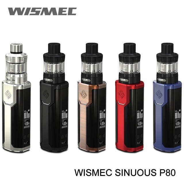 Оригинальный WISMEC извилистые P80 комплект электронных сигарет с Elabo Мини Танк 2 мл 200 W поле Mod 18650 батареи starter vape ручка комплект