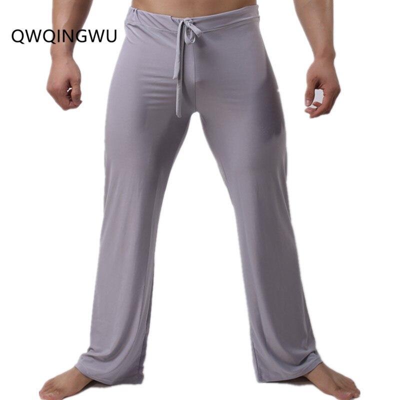 Man Long Pant Sleepwear Comfortable Breathable Slip Mans Sleep Bottoms Men's Casual Trousers Homewear Pants Pajama Loose Pants