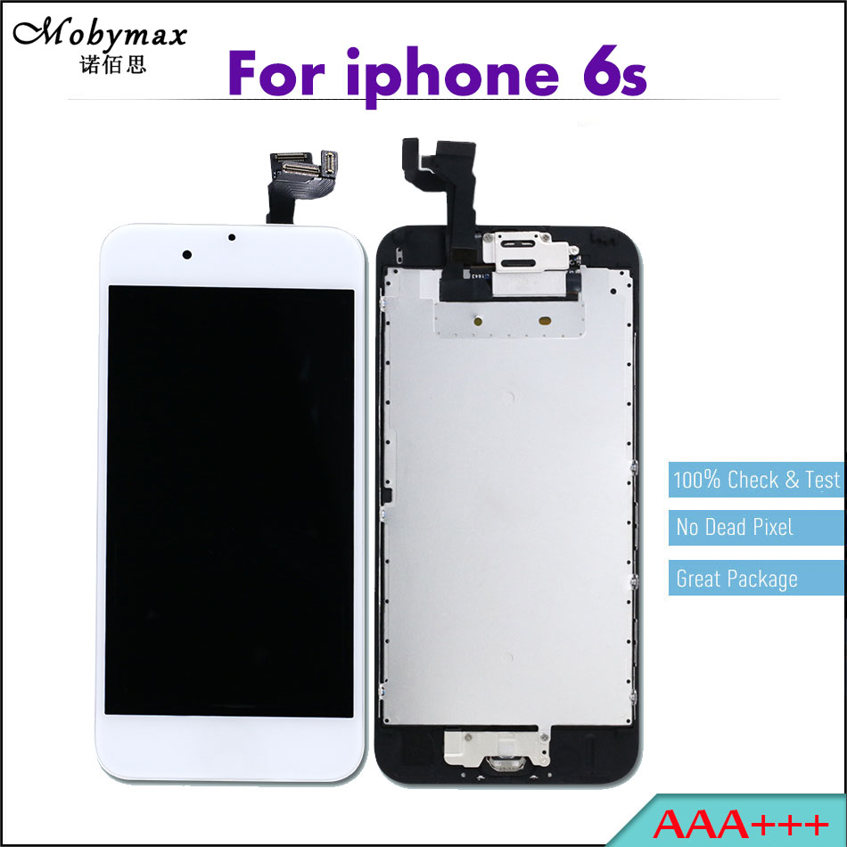 Mobymax 5PCS LCD For iPhone 6S 4.7 Pantalla Ecran Module Full Assembly Touch Screen Digitizer Display+Home Button+Front Camera