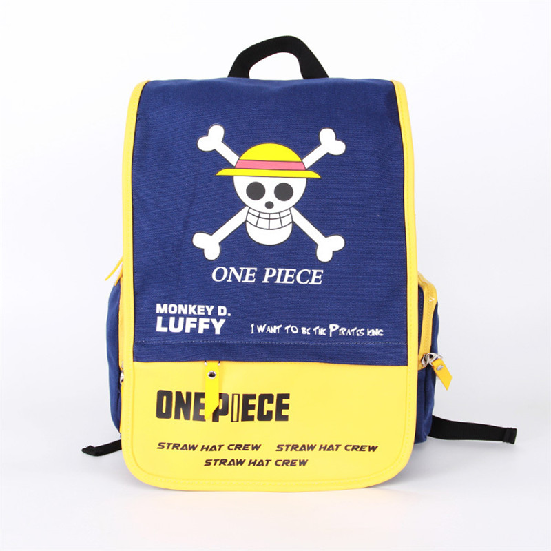 Cartoon One Piece Backpack Rucksack for School Canvas Japan Anime Mochila Escolar for Teenagers Students BagpackCartoon One Piece Backpack Rucksack for School Canvas Japan Anime Mochila Escolar for Teenagers Students Bagpack