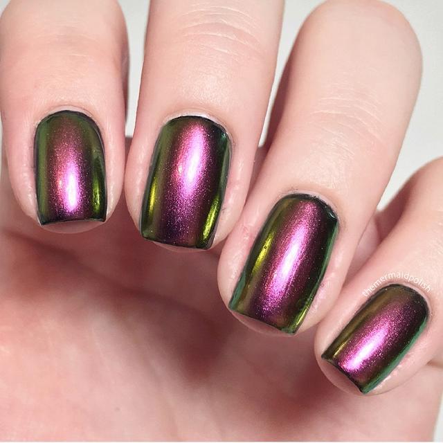 1 Box 0.5g Nail Art Glitter Powder Chameleon Effect Nail Pigment  Manicure Nail Tips Nail Art Decoration